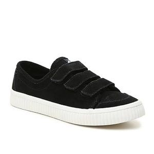 SPERRY Crest Creeper Velcro Black Suede Sneakers 8